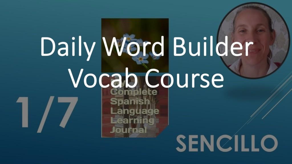 Spanish vocabulary course